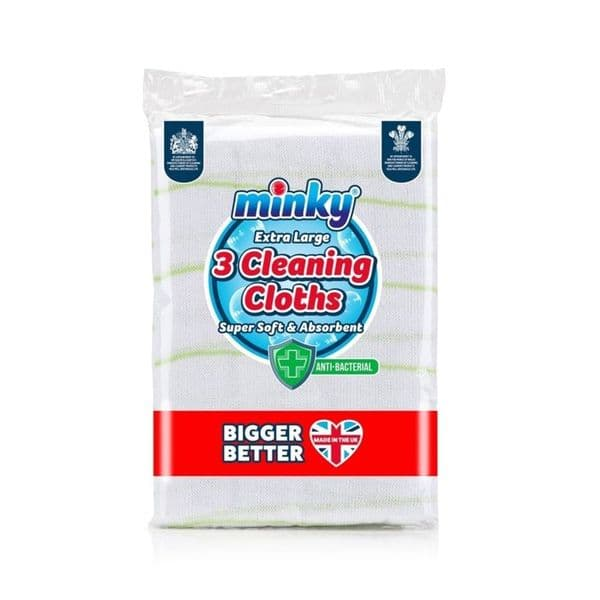Minky Anti-Bac Cleaning Cloths - Pack 3
